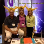 "LPI representatives enjoy ""Hat Happy Hour"" at the 2013 AIA Expo in Denver."