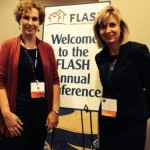 Lynne McChristian (Insurance Information Institute) and Kim Loehr met in Orlando to support a mitigation call to action at the FLASH annual conference.